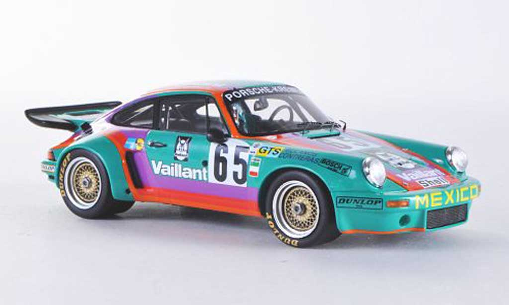 Porsche 930 RSR 1/43 Spark Carrera No.65 Vaillant 24th Le Mans 1975 C.Bolanos/A.Contreras/BILLY miniature
