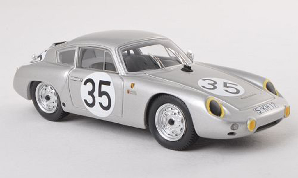 Porsche 356 1960 1/43 Spark Abarth 1600 GTL No.35 24h Le Mans H.Linge/H.-J.Walter