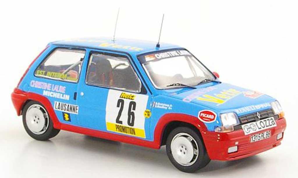 Renault 5 GT Turbo 1/43 IXO No.26 E.Mauffrey / D.Grataloup Rally Monte Carlo 1988 miniature