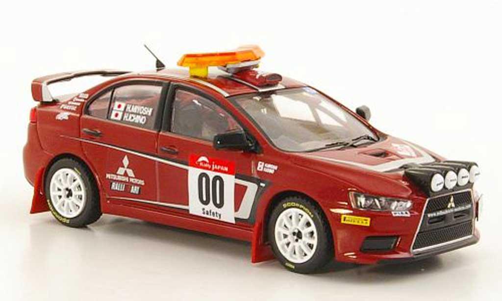 Mitsubishi Lancer Evolution X 1/43 IXO No.00 H.Miyoshi / H.Ichino Safety Car Rally Japan 2007 miniature
