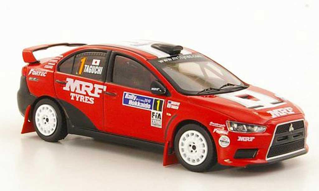 Mitsubishi Lancer Evolution X 1/43 IXO No.1 K.Taguchi / C.Murphy Rally Hokkaido 2010 miniature