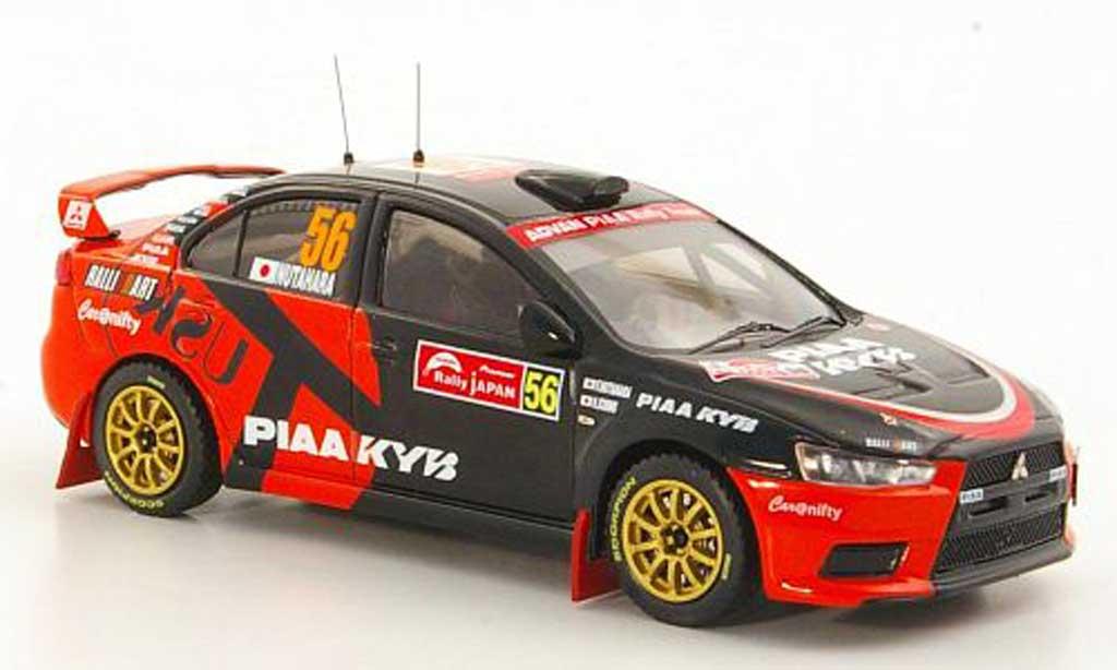 Mitsubishi Lancer Evolution X 1/43 IXO No.56 RalliArt F.Nutahara / H.Ichino Rally Japan 2008 miniature
