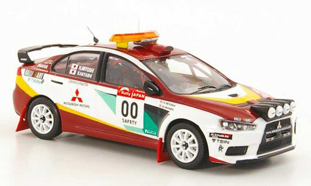 Mitsubishi Lancer Evolution X 1/43 IXO No.00 H.Miyoshi / S.Hayashi Safety Car Rally Japan 2008 miniature