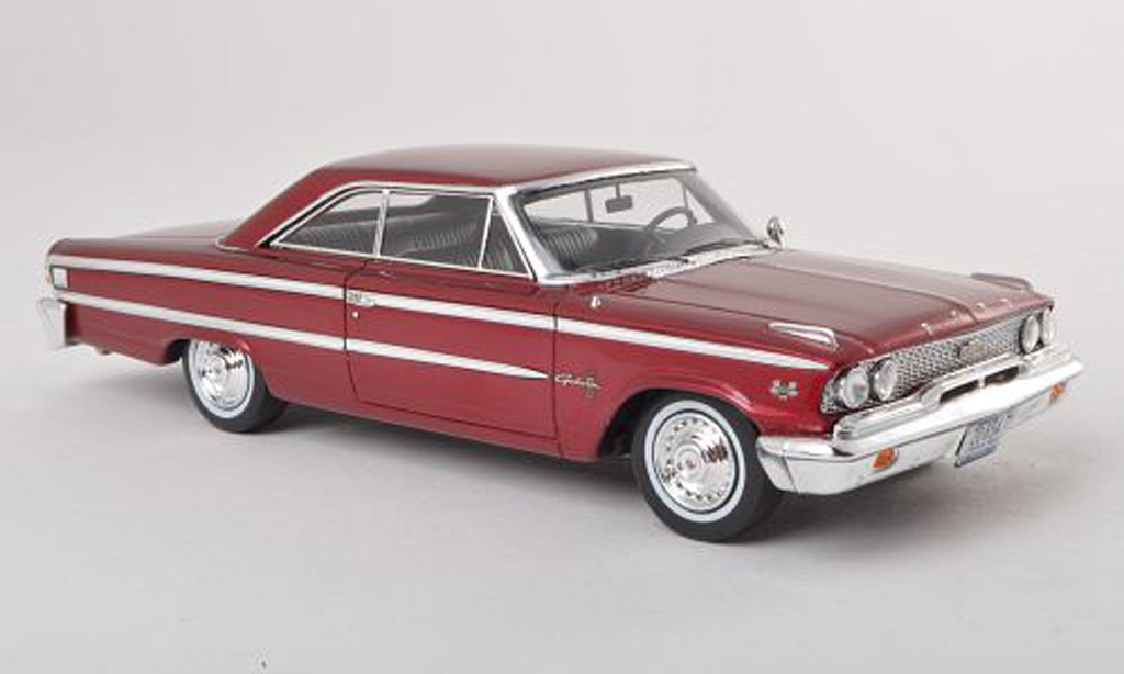 Ford Galaxy 1/43 Spark 500 black-red 1963 diecast model cars
