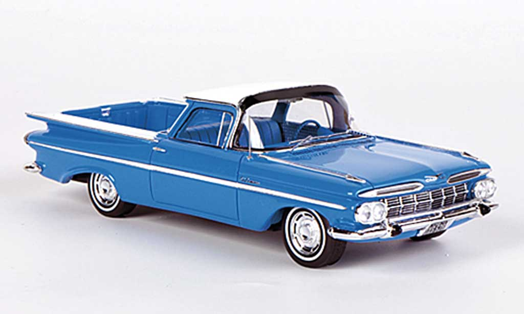 Chevrolet El Camino 1/43 Spark bleu/white 1959 diecast model cars