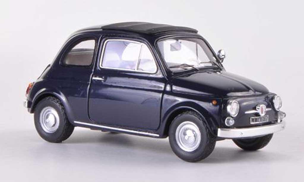 Fiat 500 F 1/43 Spark bleu 1965 diecast model cars