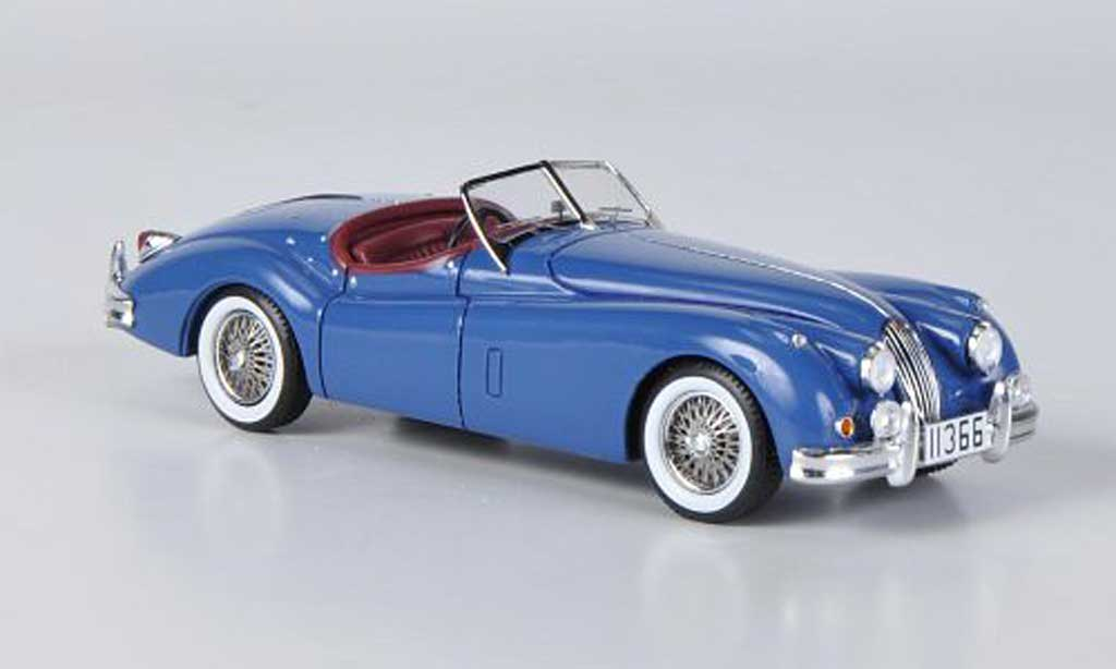 Jaguar XK 140 1/43 Spark Roadster bleu 1957 diecast model cars
