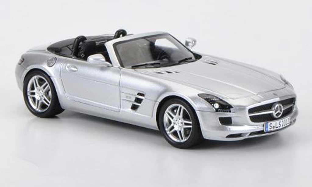 Mercedes SLS 1/43 Spark AMG Roadster grise miniature
