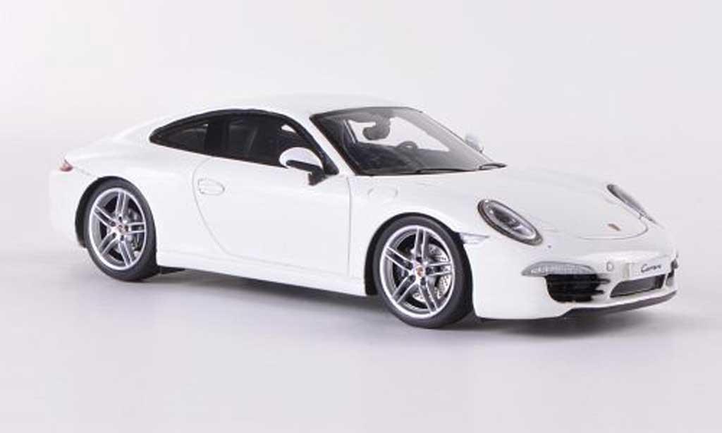 Porsche 991 Carrera 1/43 Spark white  2012 diecast