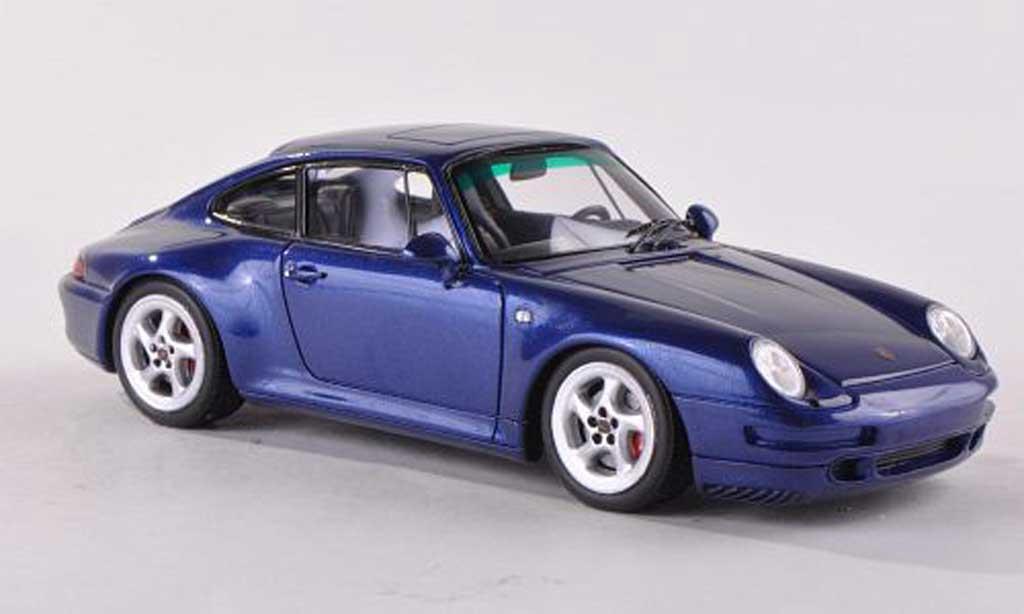 Porsche 993 4S 1/43 Spark Carrera bleu 1995 miniature