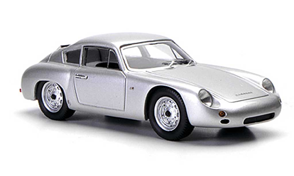 Porsche 356 1960 1/43 Spark B 1600 GTL Coupe Abarth grey diecast model cars