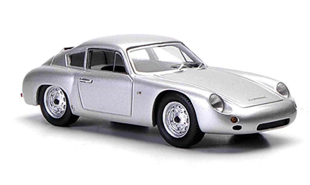 Porsche 356 1960 1/43 Spark B 1600 GTL Coupe Abarth grise miniature