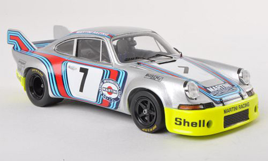 Porsche 911 RSR 1/43 Spark 2.8 Long Tail No.7 Martini Racing Zeltweg 1973 G.van Lennep/H.Muller miniature