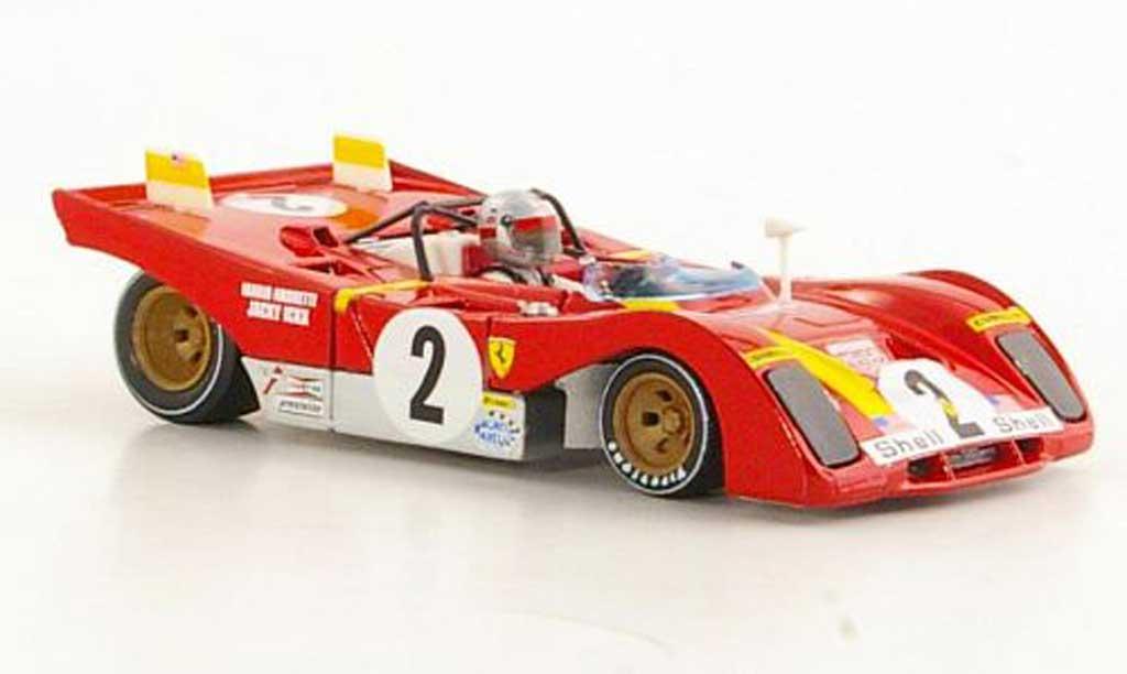 Ferrari 312 PB 1/43 Brumm No.2 J.Ickx / M.Andretti 6h Daytona 1972 miniature