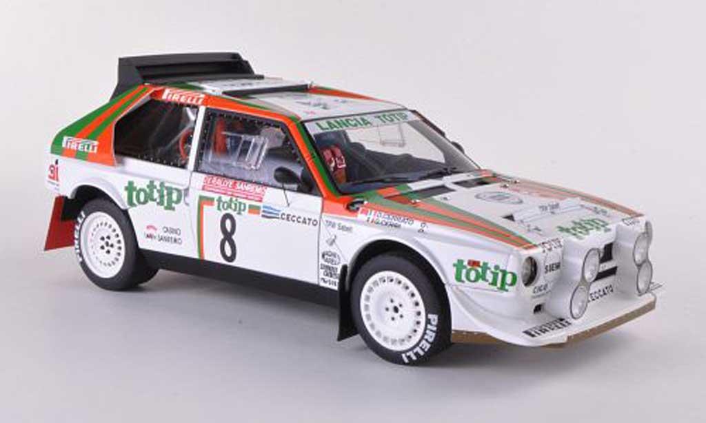 Lancia Delta S4 1/18 Autoart No.8 Rally Sanremo 1986 Cerrato/Cerri miniature