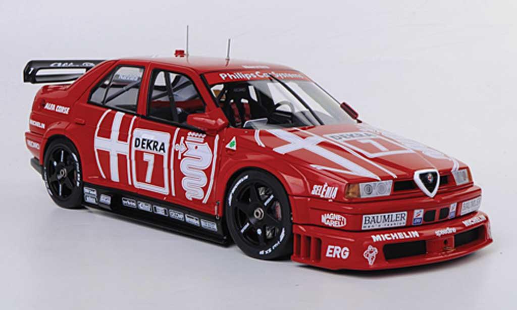 Alfa Romeo 155 1/18 Autoart V6 TI No.7 Alfa Corse A.Nannini DTM Hockenheim 1993 diecast