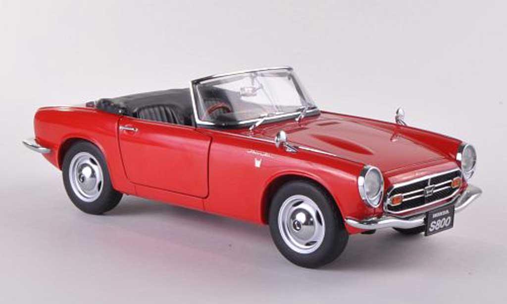 Honda S800 1/18 Autoart Roadster rouge 1966 miniature