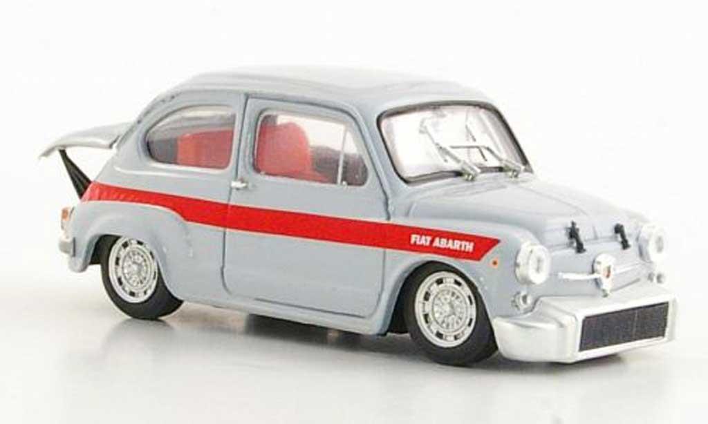 Fiat 850 1/43 Brumm Abarth TC Corsa grey/red 1966 diecast model cars