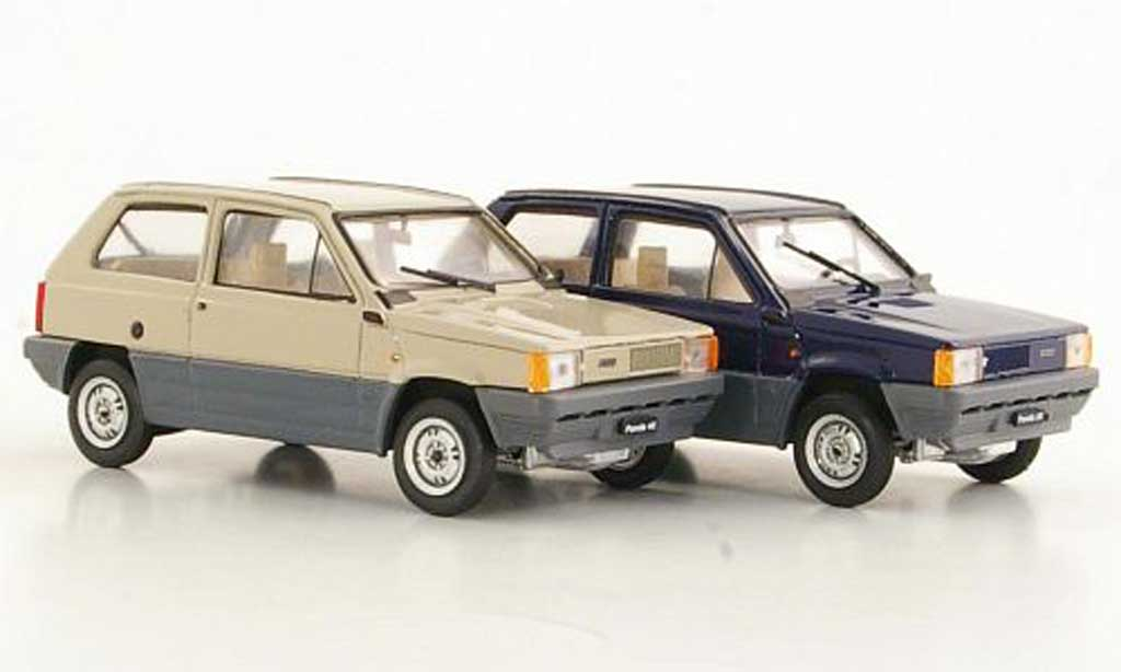 Fiat Panda 1/43 Brumm 2er-Set: 30 bleu und 45 beige 1980 miniature