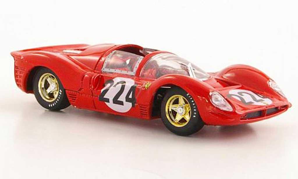 Ferrari 330 P4 1/43 Brumm No.224 Vaccarella / Scarfiotti Targa Florio 1967 modellino in miniatura