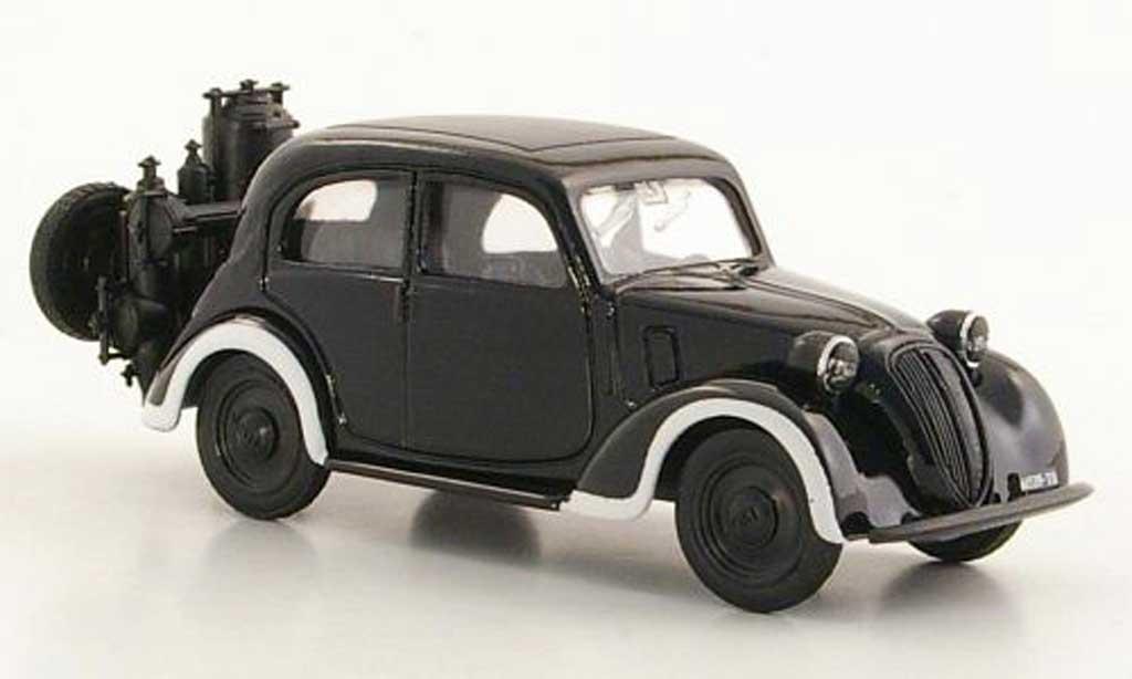 Fiat 1100 1/43 Brumm Gassogeno negro coche miniatura