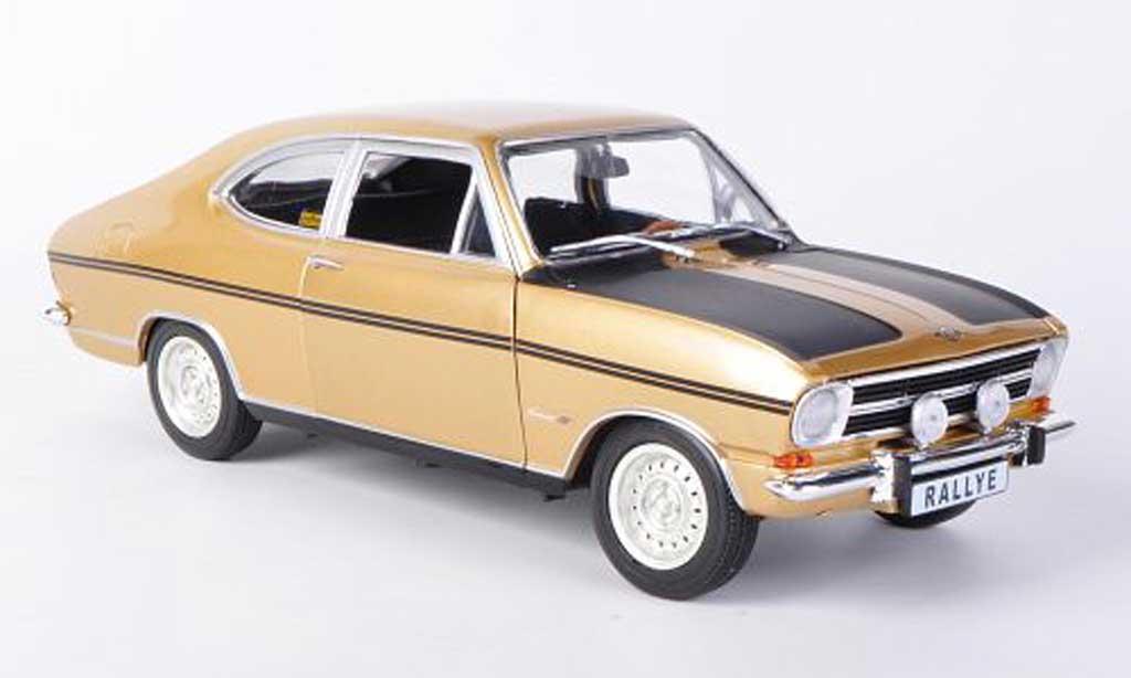Opel Kadett B 1/18 Revell Rallye 1900 gold/mattblack diecast