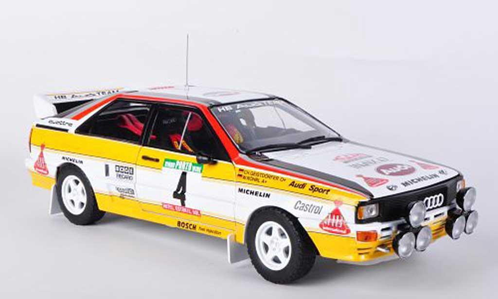 Audi Quattro 1/18 Sun Star A2, No.4, HB, W.Rohrl / C.Geistdorfer, Rally Portugal 1984 miniature