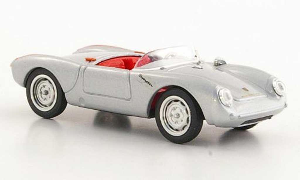 Porsche 550 1954 1/43 Brumm  grise /rouge Strassenversion miniature