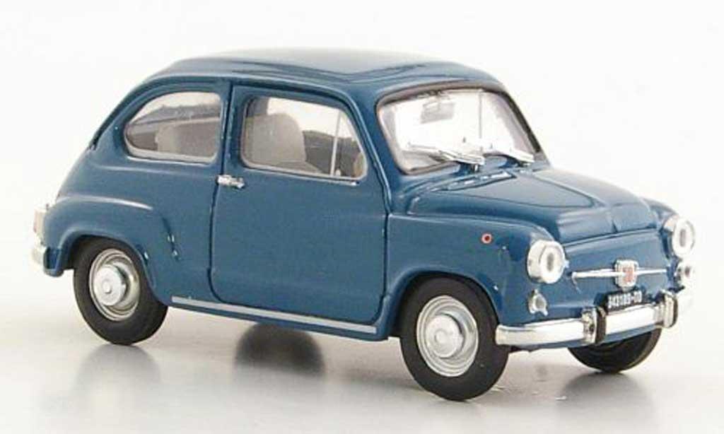 Fiat 600 1/43 Brumm D bleu ''Fanaloni'' 1965 diecast
