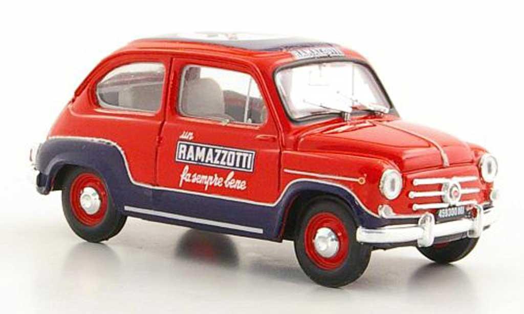 Fiat 600 1/43 Brumm D Ramazotti 1960 miniature