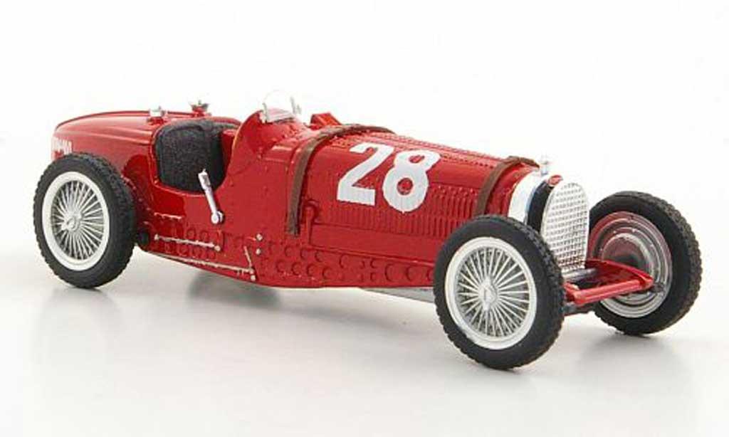 Bugatti Type 59 1/18 Brumm No.28 T.Nuvolari GP Monaco 1934 diecast