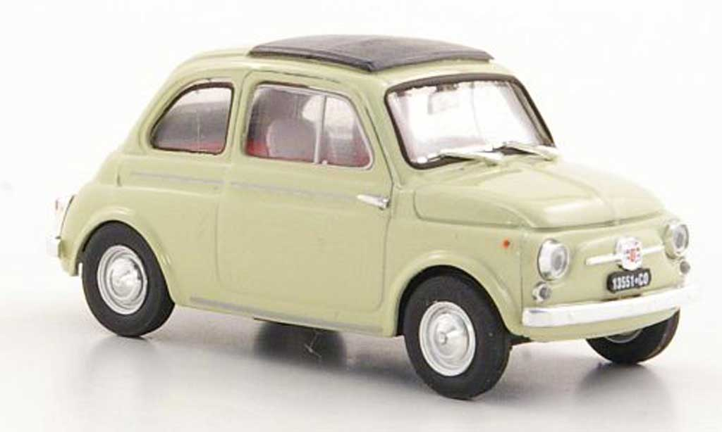 Fiat 500 D 1/43 Brumm beige 1960 diecast