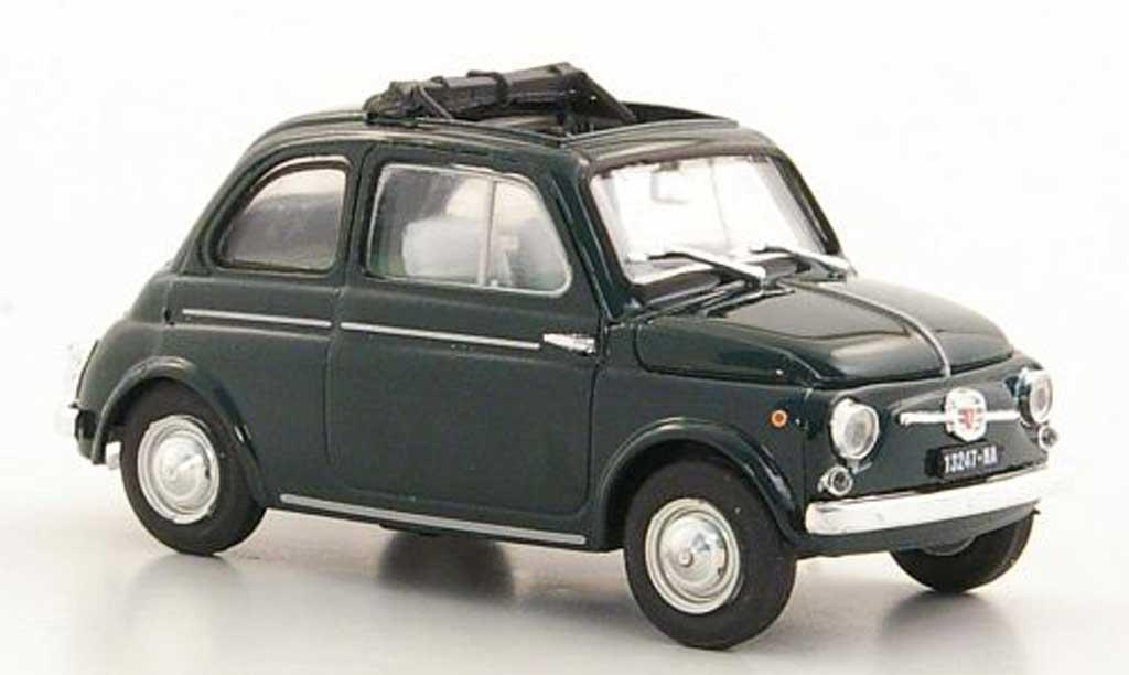 Fiat 500 D 1/43 Brumm green geoffnetes Faltdach 1960 diecast