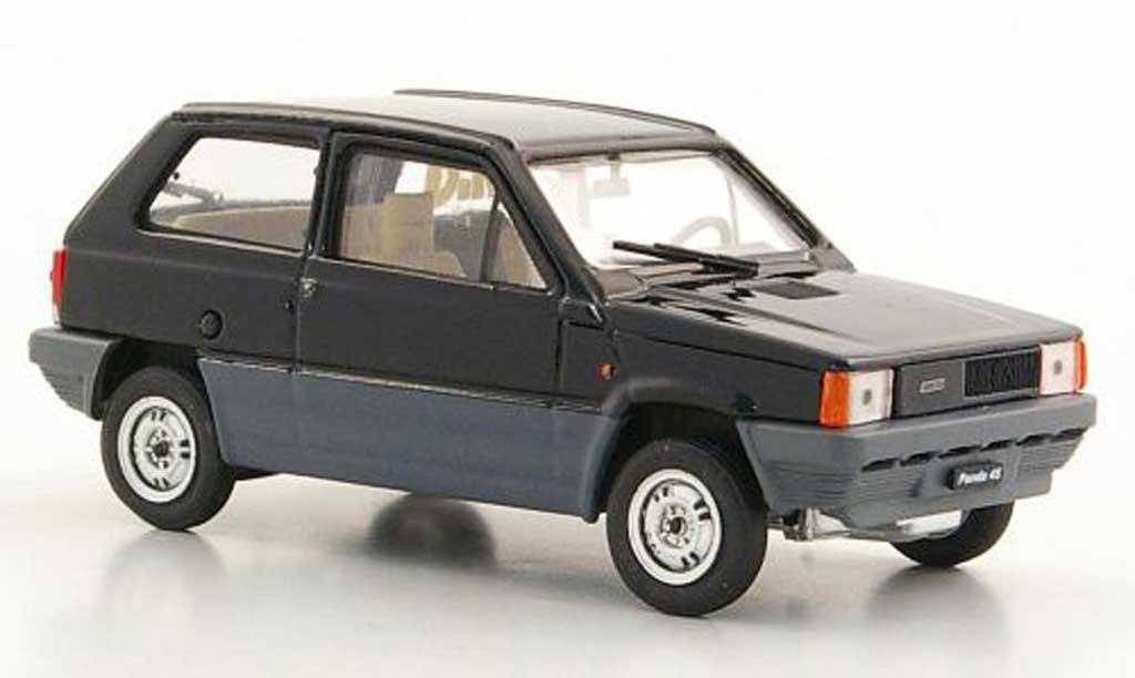 Fiat Panda 1/43 Brumm 45 noire 1980 miniature
