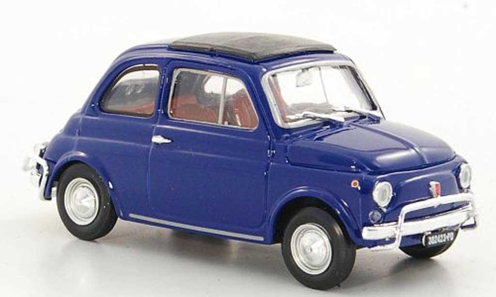 Fiat 500 L 1/43 Brumm bleu 1968 diecast