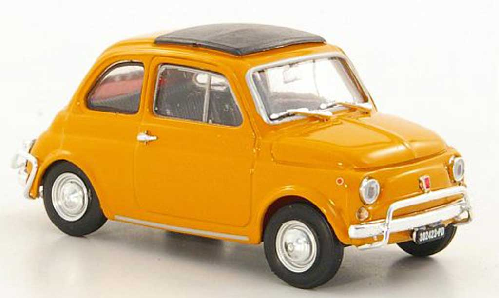 Fiat 500 L 1/43 Brumm yellow 1968 diecast model cars