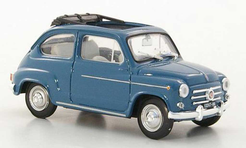 Fiat 600 1/43 Brumm D blue  1960 diecast