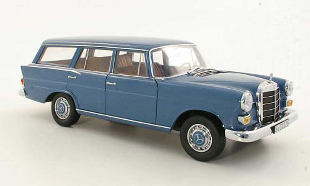 Mercedes 200 1/18 Norev Universal (W110)bleu miniature