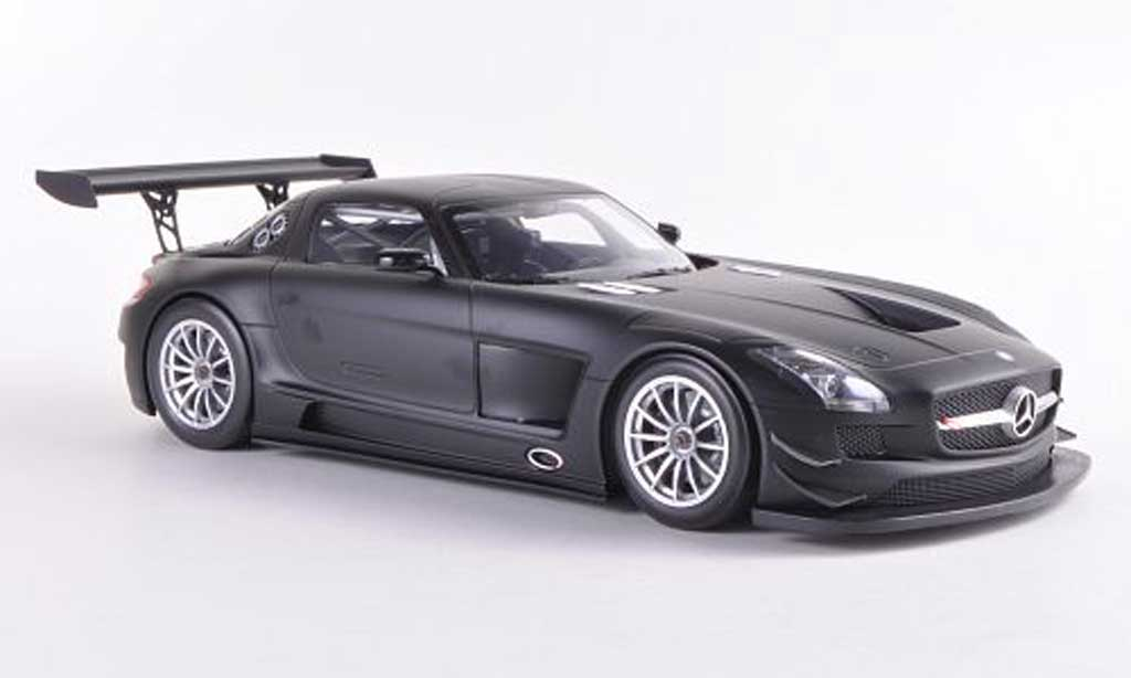 Mercedes SLS 1/18 Minichamps AMG GT3 mattnoire Plain Body Version 2011 miniature