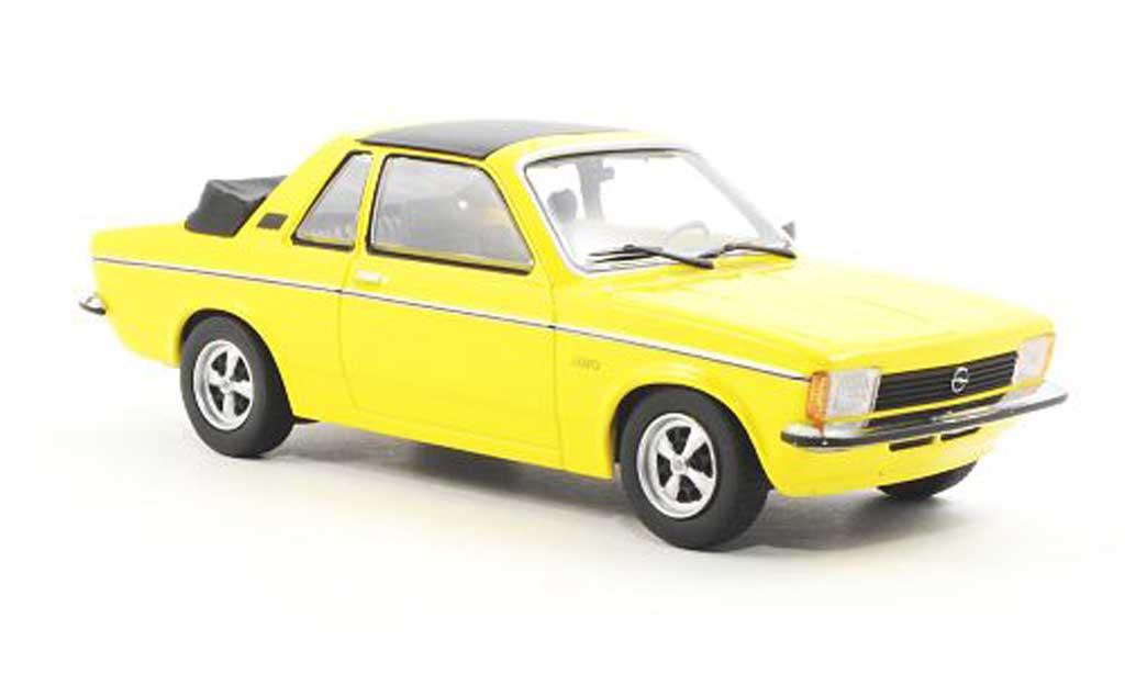 Opel Kadett C 1/43 Minichamps Aero amarillo Sondermodell MCW 1978 miniatura