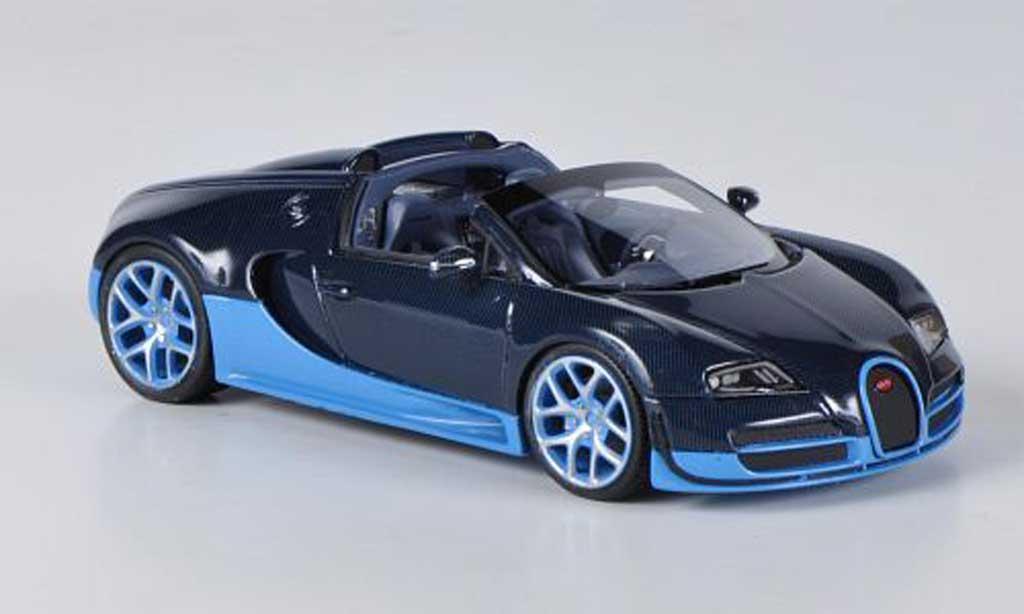 Bugatti Veyron Grand Sport 1/43 Look Smart 16.4 Vitesse Carbonoptik/bleu/bleu 2012 miniature