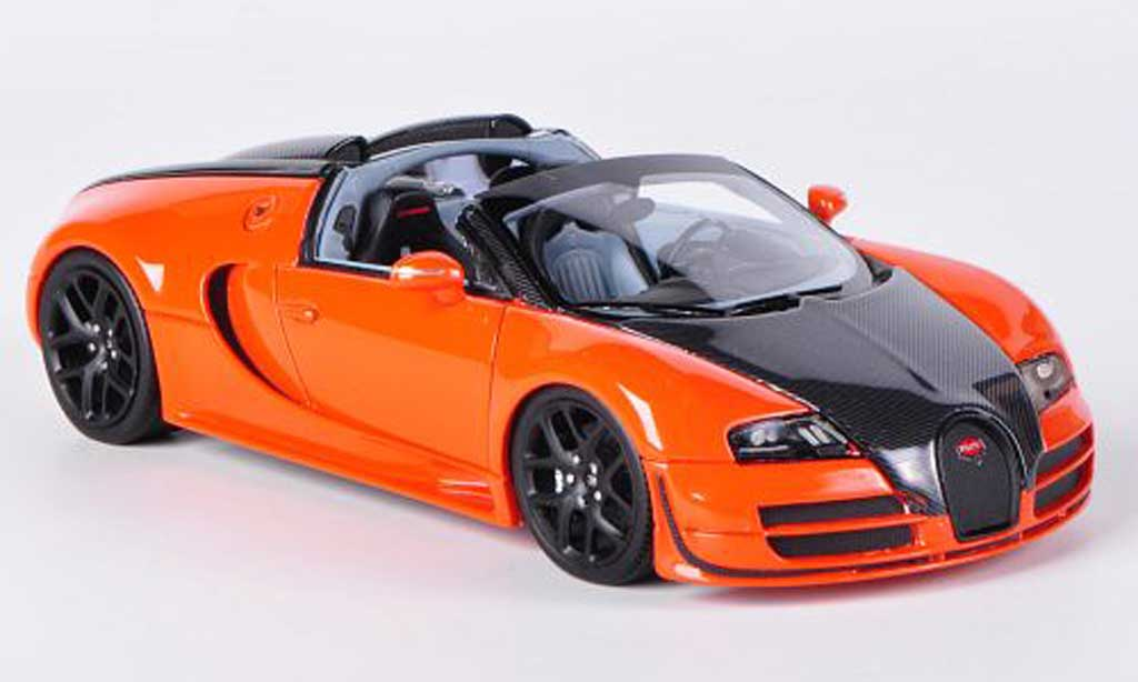 Bugatti Veyron Grand Sport 1/43 Look Smart 16.4 Vitesse orange/carbon Autosalon Genf 2012 miniature