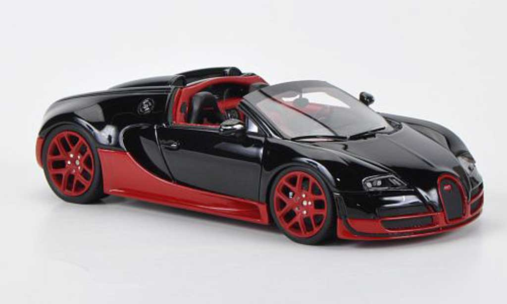 Bugatti Veyron Grand Sport 1/43 Look Smart 16.4 Vitesse noire/rouge Autosalon Genf 2012 miniature