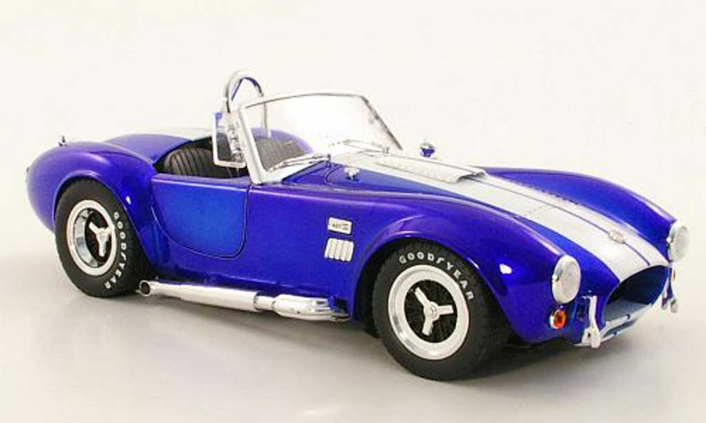 Shelby Ac Cobra 1/18 Shelby Collectibles 427 S/C bleu/blanche miniature