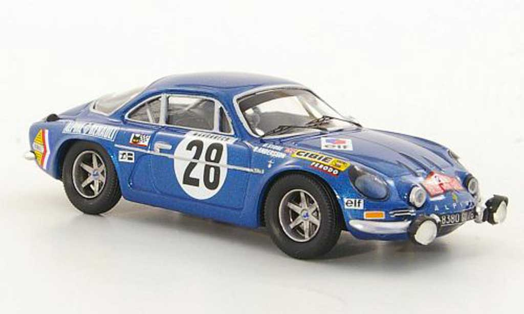Alpine A110 1/43 Trofeu 1600S No.20 O.Andersson / D.Stone Rally Monte Carlo 1971 diecast model cars