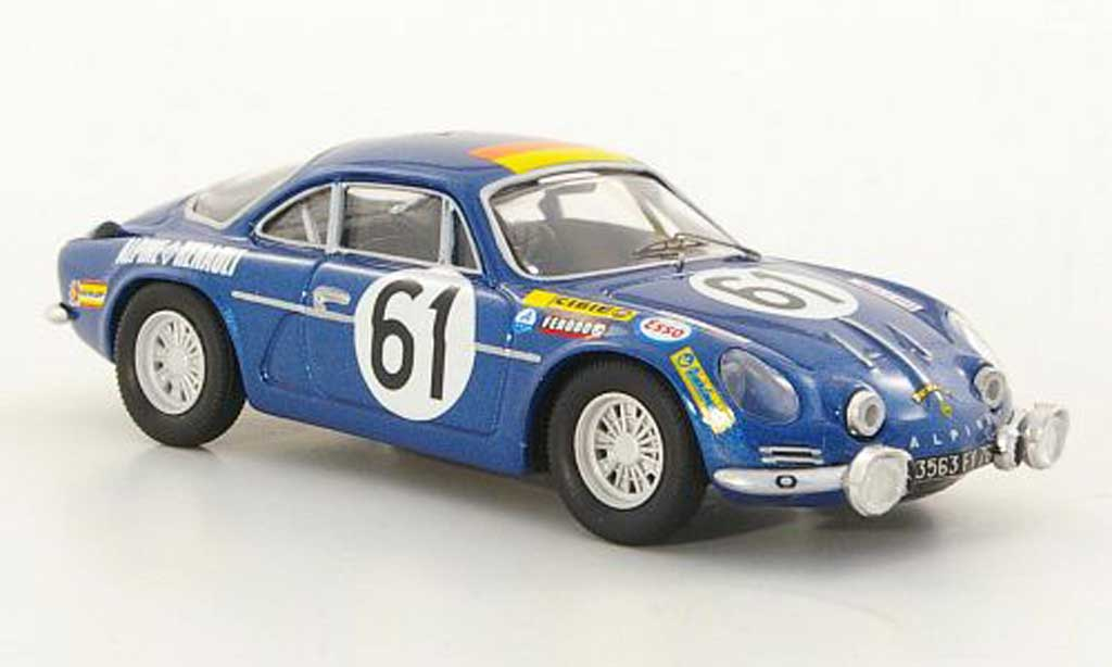 Alpine A110 1/43 Trofeu 1300 No.61 Nusbaumer / Bourdon 24h Le Mans 1968 modellino in miniatura