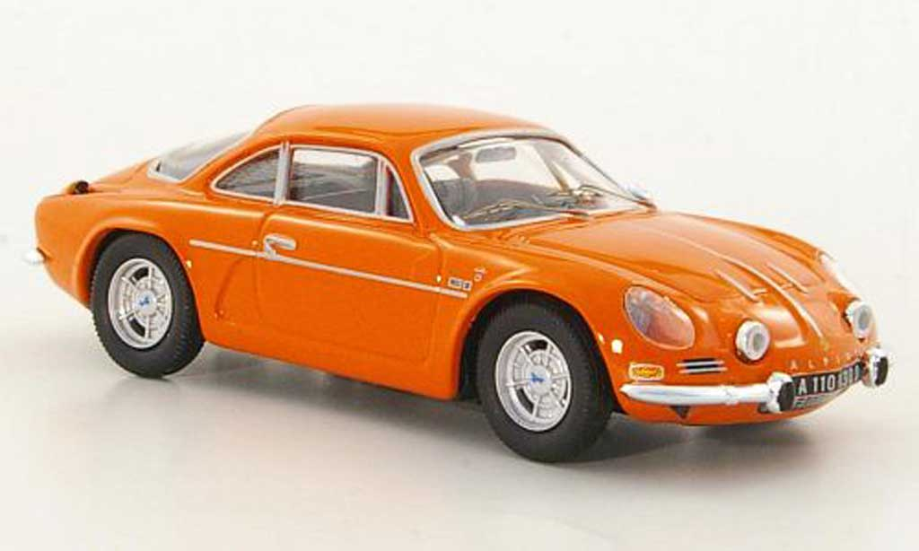 Alpine A110 1/43 Trofeu 1300 G orange Strassenversion diecast model cars