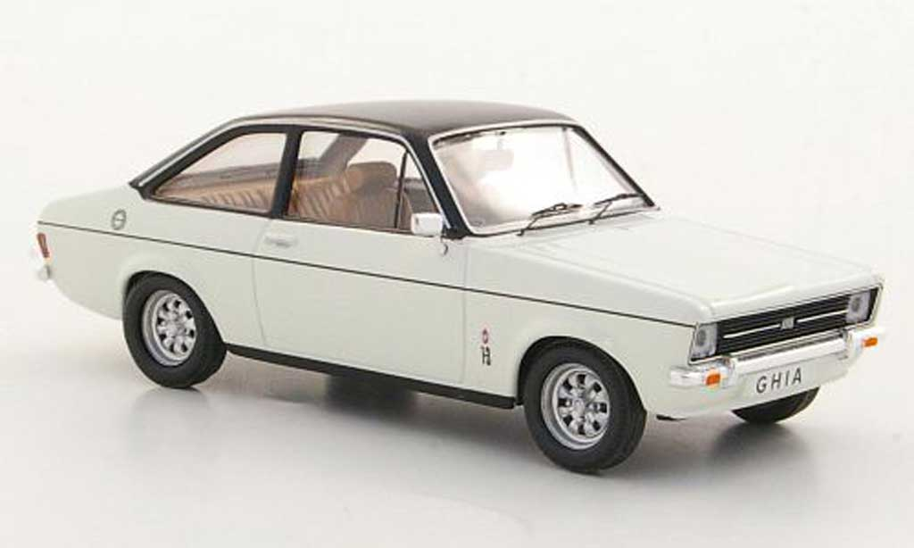 Ford Escort MK2 1/43 Trofeu 1300 Ghia white/black RHD diecast model cars