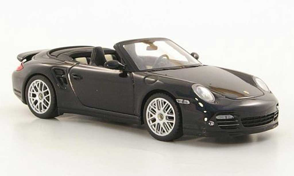 Porsche 997 Turbo cabriolet 1/43 Minichamps S black 2010