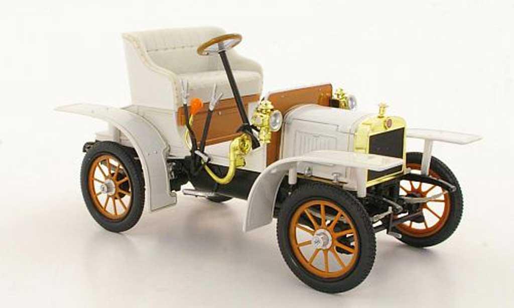 Laurin Klement Voiturette 1/18 Abrex Laurin-Klement grise-blanche 1905 miniature